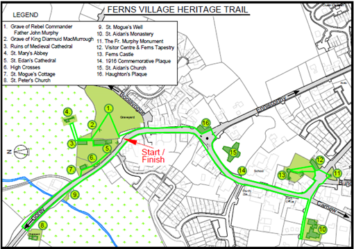 Ferns Village Heritage Trail Map image