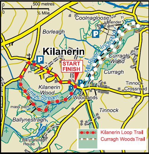 Kilanerin Curragh Woods Map image