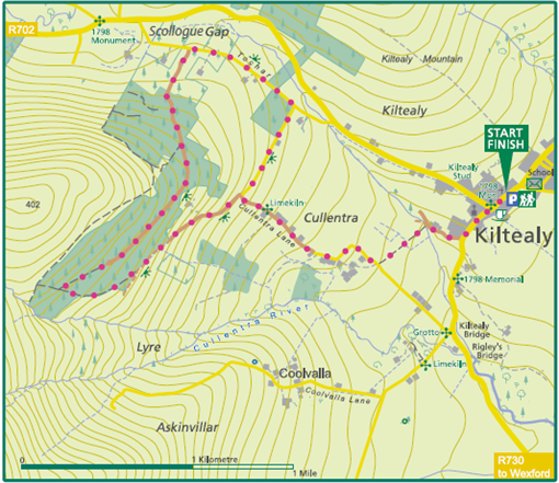 Kiltealy Cullentra Trail map image