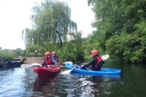 Kayakers on the Slaney